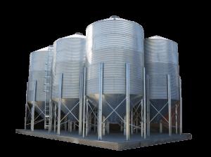 Силосы с конусным днищем предназначены для оперативного накопления и отгрузки зерновых и семян масличных. Отличительной чертой силосов с конусным дном от
